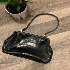 TOMMY HILFIGER Faux Crocodile Skin mini bag